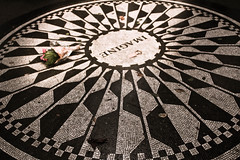 Imagine (ani lynn) Tags: park nyc newyorkcity flowers music newyork musicians memorial song centralpark central band imagine beatles johnlennon thebeatles