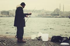 Istanbul | Turkey, March 2014 (Sebastien BERTRAND) Tags: city canon turkey fisherman istanbul turquie streetphoto pcheur bosphorus ville boazii bosphore yenicami photoderue boaz istanboul istanbulboaz istanbulboazii eos40d canon40d fotomato sebfotomato weloveistanbul mosqueyeni sebastienbertrand