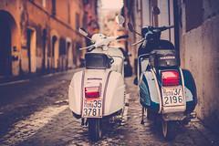 Two's Company (Jamie Frith) Tags: street italy rome vintage 50mm nikon vespa d800