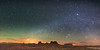 Monument Valley panorama from Utah (Sergio Garcia Rill) Tags: arizona panorama mountain night utah sandstone nightscape unitedstates pano panoramic nightsky navajo monumentvalley stagecoach mexicanhat 2014 ushighway163 earthandspace kingonhisthrone brighamstomb
