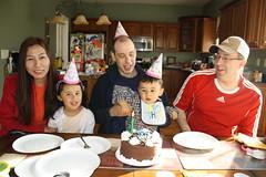 2014    04-19   Happy Birthday Uncle Dan (RasMarley) Tags: family adam dan aiden grandchildren granddaughter grandson 17months anjali tsering 60months