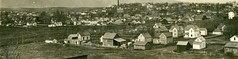 Bird's Eye View, 1910 - Moscow, Idaho (Shook Photos) Tags: panorama moscow postcard aerialview panoramic idaho postcards birdseyeview moscowidaho rppc realphotopostcard latahcounty