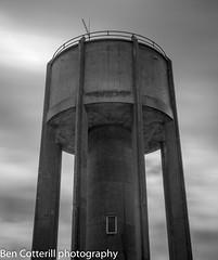 IMG_0769 (cotterill_ben) Tags: longexposure cloud monochrome architecture blackwhite industrial watertower northamptonshire