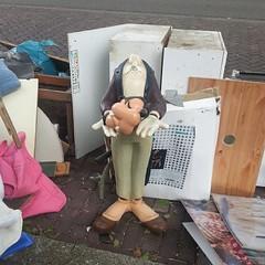 hyuck hyuck hyuck (milov) Tags: goofy statue trash phonecam square cropped boxes voorburg tweetme fbme instagram samsunggalaxys3