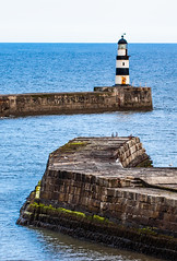 Seaham Harbour. The Lighthouse. (CWhatPhotos) Tags: pictures light portrait lighthouse house macro docks canon that lens eos prime pier photo dock day with image cloudy photos harbour pics may picture pic images 100mm photographs photograph 28 dslr which has f28 ef contain seaham 2014 containing 450d cwhatphotos