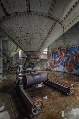 Bottom Of The Barrel (billmclaugh) Tags: abandoned industry photoshop canon buffalo rust industrial factory mark grain explore adobe urbanexploration silos hdr highdynamicrange boiler maio tse onone lightroom malt urbex grainelevators tiltshift markiii 17mm f4l photomatix silocity promotecontrol perfecteffects