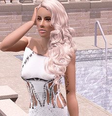 Lady Gaga - Versace White Dress (Sims 3) (kareemzi) Tags: red game celebrity up monster lady way carpet this born cheek little fame free pop queen clothes download paparazzi awards paws oscars versace gaga donatella artpop customcontent thesims3 sims3 sims4 sims3cc sims3download sims3clothes thesims4 sims4download