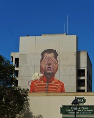 Big Soldier on a Big Wall (mikecogh) Tags: streetart festival wall soldier hands rat mural publicart wonderwall etam portadelaide wonderwalls