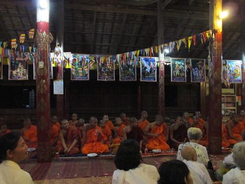 Cérémonie bouddhiste, Kratie, Cambodge