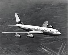 WAL Boeing 707- 720B with Indian head Logo -1962 (slap757) Tags: inflight boeing 1961 720b westernairlines theonlywaytofly boeing720b b720b