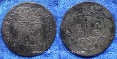 Netherlands Gelderland 1 duit 1759 (Numismatic Coins & History) Tags: netherlands coin europa europe copper holanda cobre moneda gelderland mnze pasesbajos duit