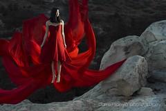 Anna (dave+sonya photography) Tags: girl rocks floating levitation reddress