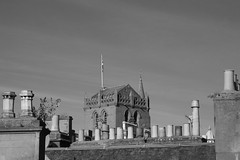 Steeple (itmpa) Tags: chimney tower monochrome canon scotland rooftops dundee steeple restored desaturated tayside chimneys kirk stmarys 6d 15thcentury chimneypots churchofscotland stmarystower steeplechurch canon6d tomparnell itmpa archhist