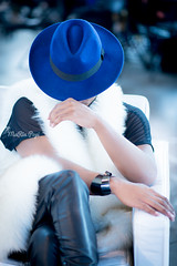 the blue hat (MaRia Popi Photography) Tags: portrait fashion portraits nikon style portraiture fashionportrait fashionblog