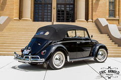 Black Convertible (Eric Arnold Photography) Tags: black church window stone vw bug magazine volkswagen temple utah ut whitewalls shoot photoshoot beetle steps convertible vert step mormon lds oval tabernacle feature kaysville