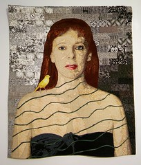 The Canary: an Art Quilt by Virginia Greaves (steveartist) Tags: art birds portraits contemporaryart quilting canary quilts artworks fiberarts artquilts portraitsofwomen virginiagreaves