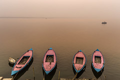 Minimalism | Varanasi,India (vjisin) Tags: travel light orange sunlight india bird heritage water river boats dawn boat nikon asia outdoor varanasi serene minimalism hindu hinduism ganga ganges ghats kasi travelphotography incredibleindia