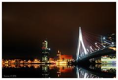 Rotterdam by night (Smarron) Tags: bridge water skyline night de rotterdam nikon scenery long exposure sigma kpn 1020mm hdr erasmusbrug d5300