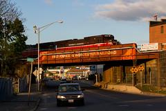 P&W Country (Ryan J Gaynor) Tags: railroad morning bridge massachusetts railway locomotive railfan goldenhour worcester pw railroading shortline providenceworcester