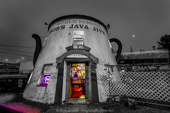 Java-Jive-Night-BW-Color (Rob Green - SmokingPit.com) Tags: old school light bw white black game building beer coffee colors pool architecture bar night speed canon way table java washington neon slow angle wine tea dusk mark vibrant room south low tripod wide bob landmark historic grill spirits pot gaming liquor ii tavern 7d shutter land wa billiards tacoma jive splash ultra f28 bobs 10mm robgreen rokinon