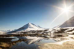 Time was we sailed across the mountain (OR_U) Tags: longexposure blue sea sky sun mountain lake snow ice reflections one this coast iceland spring may wideangle lagoon le shore serenity his oru ine bliss sunflare 2016 olafsfjordur garymoore