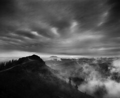 The end of a good trail (Zeb Andrews) Tags: clouds mediumformat landscape blackwhite washington pacificnorthwest 6x7 analogphotography thegreatoutdoors filmphotography pentax67 silverstarmountain