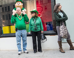I'm Not With Them (UrbanphotoZ) Tags: nyc newyorkcity woman ny newyork green necklace beads couple boots manhattan shades parade midtown sack shamrocks cowboyhat stpatricksday armsfolded leprechaun fifthave clenchedfist backturned