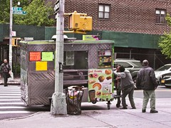 Truckin In Alphabet City () Tags: work struggle pushing foodtruck