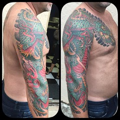 More views...#dragontattoo #tattoosbypooch #alteredstatetattoo #japanesetattoo #ryu