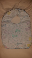 Homemade Adjustable, Reversible Baby Bib (Lyn Lomasi) Tags: baby homemade cloth diapers infants essentials bibs adjustable