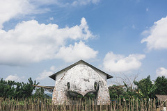 Bird-house (Marina Nozyer) Tags: sky bali house building bird art architecture indonesia creative bedugul