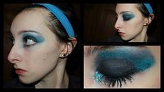 shimmeryblue0 (lauren_michelle_byckowski) Tags: blue portrait people selfportrait glitter eyes colorful bright shimmery makeup pale portraiture cosmetics eyeshadow blending