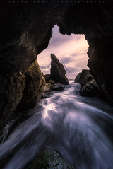 Keyhole At Ruby Beach (jasonfdarr) Tags: ocean sunset beach water vancouver sand waves rubybeach seastacks jasondarr