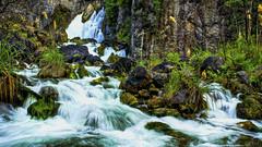 Tarawera Falls (fotonut NZ) Tags: blue trees newzealand green fall water river bay rocks outdoor cavern plenty steep tarawera whakatane kawerau