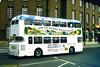 Slide 061-35 (Steve Guess) Tags: uk red england white holidays leicestershire leicester national advert gb alexander midland daimler fleetline
