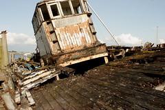 TITLED (skysthelimit333) Tags: wood rot rotting wooden lancashire wreck skippool rottingboat ggodhope