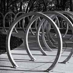 Bike Racks (Bolobilly) Tags: park monochrome minnesota bicycling minneapolis mpls twincities mn minnehaha