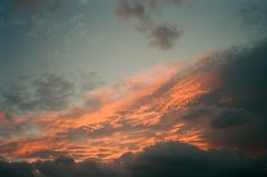 Sunset on a late January afternoon (f_skij) Tags: sunset sky clouds redsky warmcolors