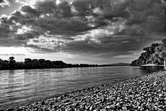Dark Danube (kalbasz) Tags: storm reflection nature water clouds river hungary shadows danube hdr outdor dunakeszi
