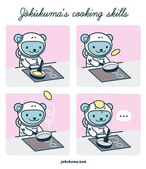 Jkkuma's cooking skills (IsraSeyd) Tags: kitchen cooking food foodporn illustration ilustracion cute kawaii   space bear spacebear character vector