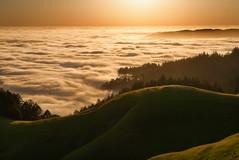 In a golden state (gmacfly) Tags: ocean california park light sunset fog golden evening warm foggy hills mount karl tamalpais