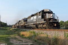 NS 6085 leads NS Train 74M in Carrollton, GA (RedneckRailfan610) Tags: railroad ga georgia god ns norfolk southern division carrollton ge emd sd402 es44ac d940cw es40dc cedartowndistrict