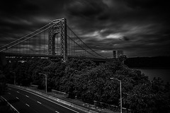 Day 245/365 (Alexander Marte Reyes) Tags: newyorkcity longexposure blackandwhite architecture gwb georgewashingtonbridge blackandwhitephotography daytimelongexposure