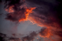 Detail of last night's Sunset (Klaus Ficker --Landscape and Nature Photographer--) Tags: sunset storm clouds klausficker