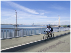 QF Bike (The Anti-Sharpness League) Tags: jadmor olympus queensferry crossing forth road bridge dunfermline fife cable stayed