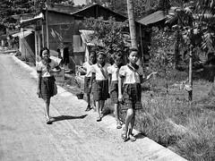 Going to school | Ho Chi Minh (-Faisal Aljunied - !!) Tags: blackandwhite monochrome rural children asian asia village streetphotography vietnam saigon hcmc hochiminh goingtoschool bwstreetphotography faisalaljunied