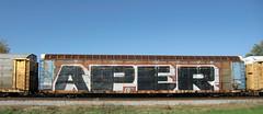 10-08-10 (9) (This Guy...) Tags: road railroad car train graffiti box graf rail rr traincar boxcar graff 2010 aper