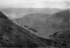 Hitch-hiking in 1963 - A Diversion (John McLinden) Tags: bw mountain monochrome scenery lakedistrict hitchhiking 1963 stridingedge helvellyn patterdale westmorland