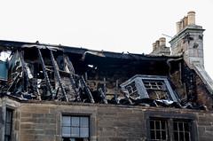After the blaze (Chalto!) Tags: elie eastnuek fife scotland building fire damage charred roof