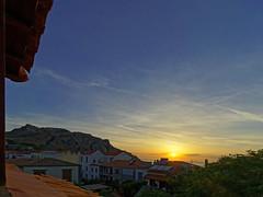 A Sunset (View from Hotel Room (Apxontiko Hotel - Myrina Town - Lemnos) Olympus OMD EM5Ii & mZuiko 7-14mm Wide Zoom (markdbaynham) Tags: island greek north aegean hellas evil olympus greece grecia gr zuiko omd csc oly mz limnos hellenic m43 zd mft lemnos myrina mirrorless micro43 mzuiko m43rd em5ii zuikolic